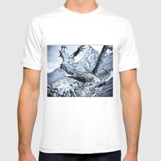 Nature dry. White MEDIUM Mens Fitted Tee