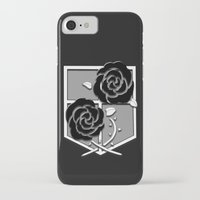 attack on titan iPhone & iPod Cases featuring Attack on Titan Stationary Guard by InVERT1X