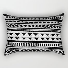 Triangle and Herring Bone Pattern Rectangular Pillow