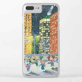 Christmas on Woodward Avenue Clear iPhone Case