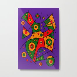 Abstract #240 Pizza Party Metal Print