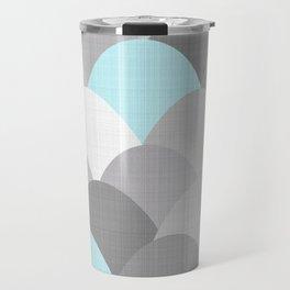 Scoops Linen Greys Travel Mug