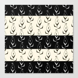 Art Deco No. 49. Block . Combined black and white pattern . Calla . Canvas Print