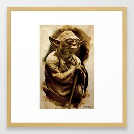 Grand Master Yoda Framed Art Print