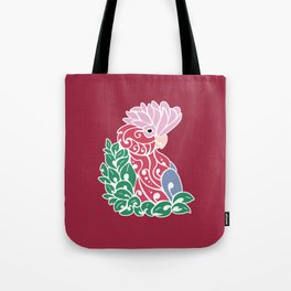 Galah cockatoo tribal tattoo pink rose-breasted aussie parrot Tote Bag