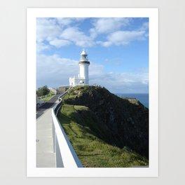 Lighthouse on the Bay Art Print