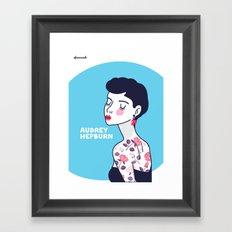 Audrey Hepburn II Framed Art Print