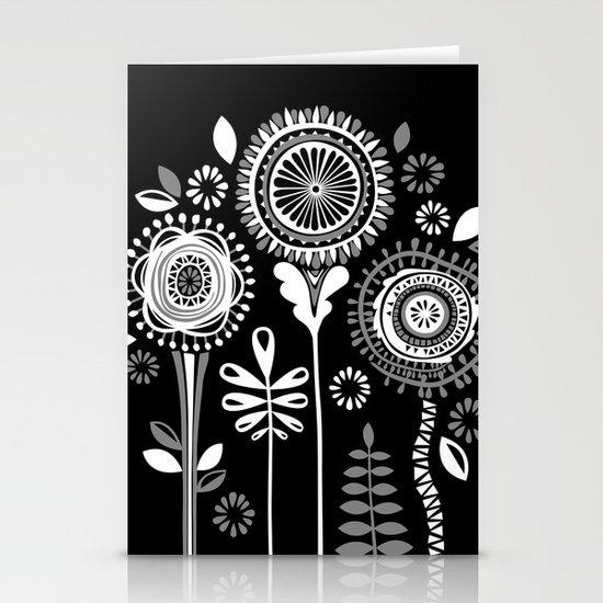 Folksy Flowerheads reverse Stationery Cards