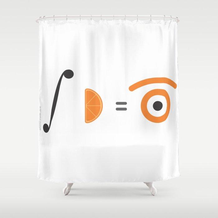 orange integral Shower Curtain