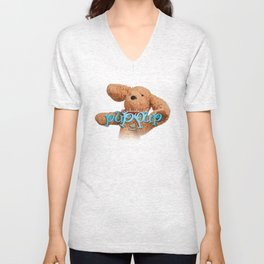 The Adventures of Puppup with Title Unisex V-Neck