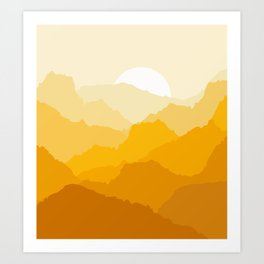 Mountain sunrise Art Print