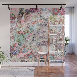 Madrid map Wall Mural