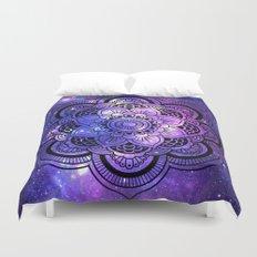 Mandala : Purple Blue Galaxy Duvet Cover