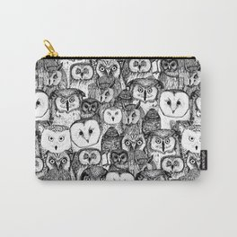 just owls black white Carry-All Pouch
