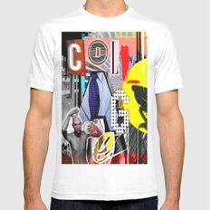 Collage is more than just cutting and sticking. MEDIUM Mens Fitted Tee White