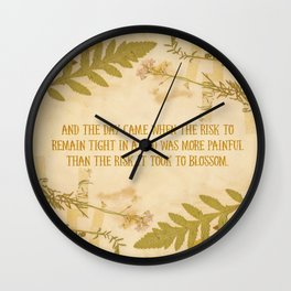 Autumn Anais Nin Quote Wall Clock