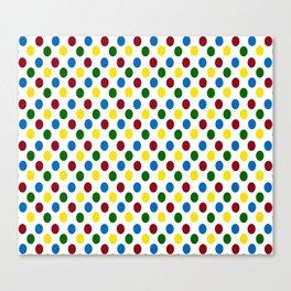 School Days Polka Dots Canvas Print