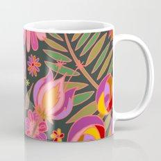 Flowers on Green Mug