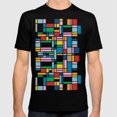 Map Outline Mens Fitted Tee Black MEDIUM