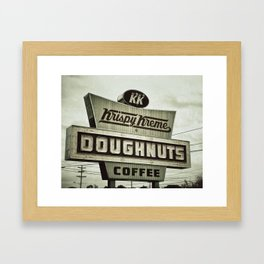 Doughnuts and Coffee Framed Art Print