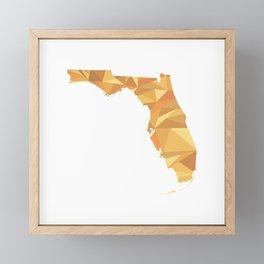 Florida Pattern Map Art Framed Mini Art Print