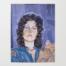 In Space No One Can Hear Your Cat Poster