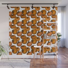 Pumpkins (Packed) - White Wall Mural