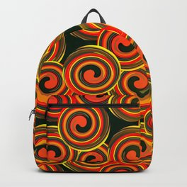 orange round abstract Backpack
