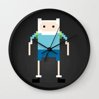 finn Wall Clocks featuring Finn by Richard Howard