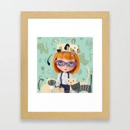 ERREGIRO BLYTHE DOLL CARMENCITA CATS Framed Art Print