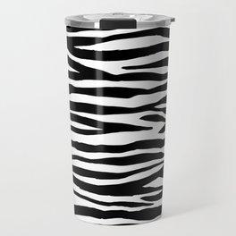 Zebra StripesPattern Black And White Travel Mug
