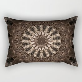 Bohemian Dark Brown Mandala Rectangular Pillow