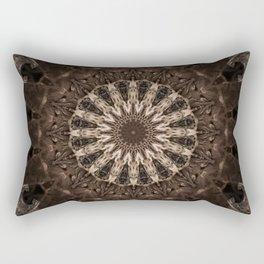 Bohemian Dark Brown Mandala Rectangular Pillow