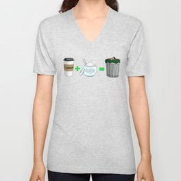 Coffee Math Unisex V-Neck