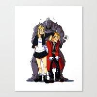 fullmetal Canvas Prints featuring Fullmetal Alchemist by Mika
