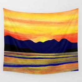 Salish Sea Sunset Wall Tapestry