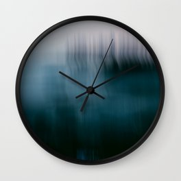 Forest Wilderness by the Sea Abstract Wall Clock