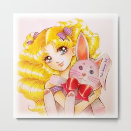 Candy Candy and Bunny Metal Print