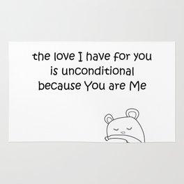unconditional love Rug