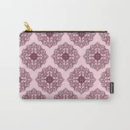 Damask Pattern in Red Carry-All Pouch