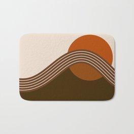 Cocoa Sundown Stripes Bath Mat