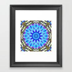 Liquid Blue Kaleido Pattern Framed Art Print