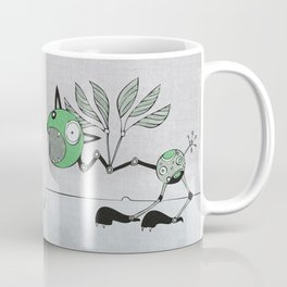 Very Green Schrieky Coffee Mug