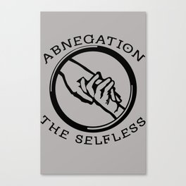 Divergent - Abnegation The Selfless Canvas Print