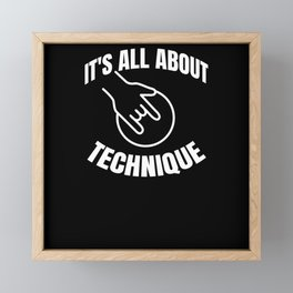 It's all about the Technique Bowling Framed Mini Art Print