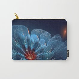 3D Blue Flower V2 Carry-All Pouch