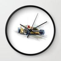 racing Wall Clocks featuring racing car3 by tatiana-teni