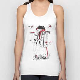 When sight is restricted, vision becomes clear. Unisex Tank Top