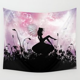 Fairy Silhouette Wall Tapestry