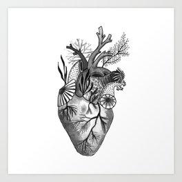 Mermaid Heart Art Print